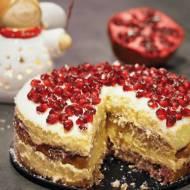 Keto tort budyniowy z żurawiną (Paleo, LowCarb)