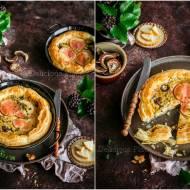 Tarta francuska z grzybami i wędzonym serem / French tart with mushrooms and smoked cheese