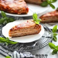 Tort naleśnikowy z szynką i serem