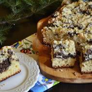 Ciasto drożdżowe (nocne) z masą makową i kruszonką.