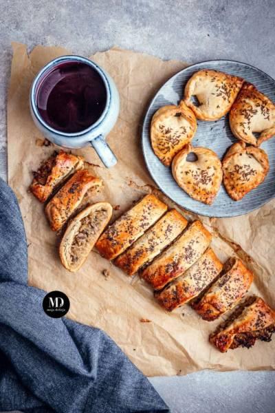 Kulebiak z kapustą i pieczarkami