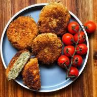 Kotlety z makaronu z serem i pieczarkami