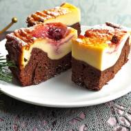 Brownie z sernikiem (sernikobrownie)