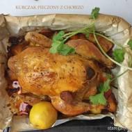 Kurczak pieczony z chorizo