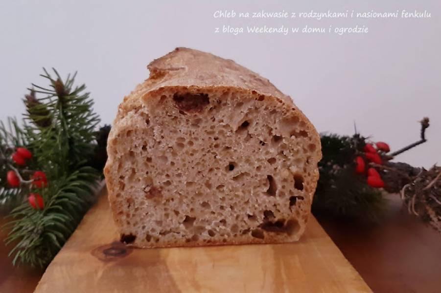 Chleb na zakwasie z rodzynkami i nasionami fenkułu