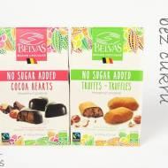 Belgijskie czekoladki serca/trufle bez cukru