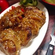 Polędwiczka z cebulką  po chińsku