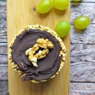 Wafle z masłem orzechowym i czekoladą
