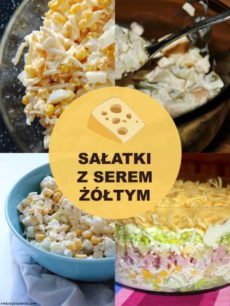 Sałatki z serem żółtym – TOP 10 przepisów