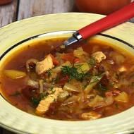 Zupa z białej kapusty z czerwoną soczewicą