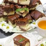 Ciasto kakaowe z serem i ananasem