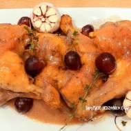 Udka z kurczaka pieczone z czosnkiem - pyszny obiad