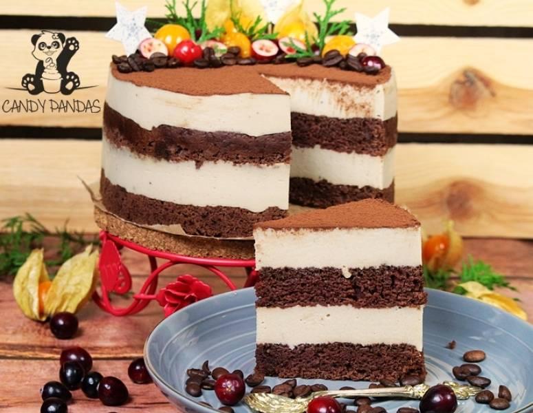 Tort a'la Tiramisu (bez laktozy, cukru białego, wegański)