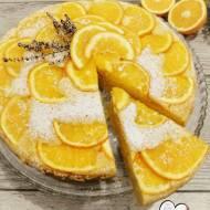 Odwrócone ciasto na mące kukurydzianej z pomarańczami