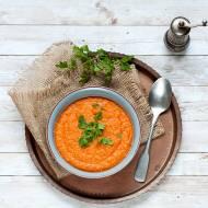 Zupa z czerwonej soczewicy z bulgurem
