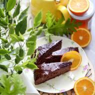Ciasto czekoladowe z pomarańczą i miodem