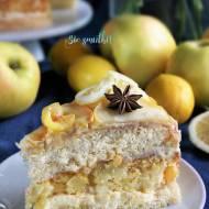 Torcik jabłkowo-cytrynowy - nowy post na słodkich sio-smutkach