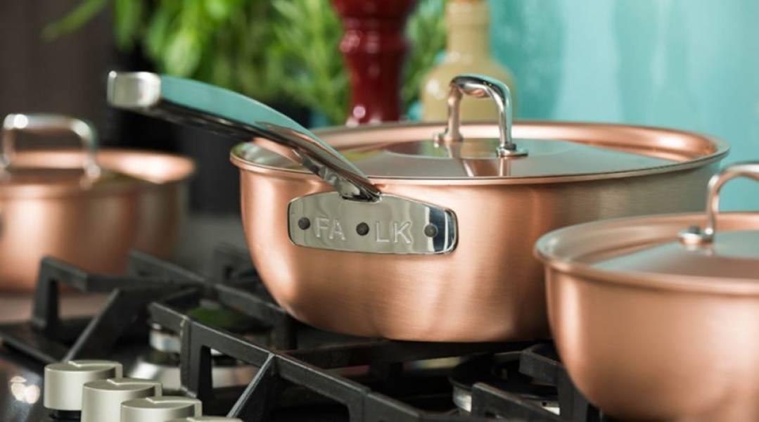 Rondle z miedzi – ekskluzywne naczynia w kuchni