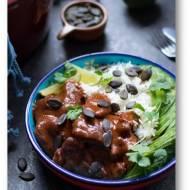 Indyk mole z ryżem i awokado, szybki meksykański obiad