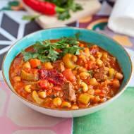 Marokańska zupa harira z ciecierzycą. Bardzo sycąca i rozgrzewająca. PRZEPIS