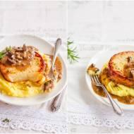 Steki z selera z sosem grzybowym / Celery steaks with mushroom sauce