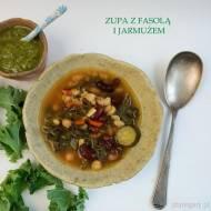 Zupa z fasolą i jarmużem