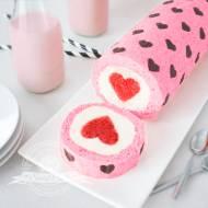 Walentynkowa rolada z sercem