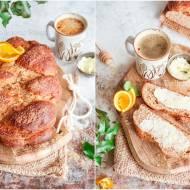 Chałka pełnoziarnista z pomarańczą / Whole wheat challah with orange