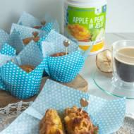 Muffiny orkiszowe z jabłkami bez cukru