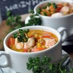 Zupa z łososiem z warzywami