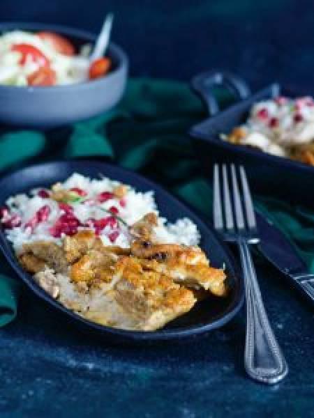 Sharoma z kurczaka z ryżem