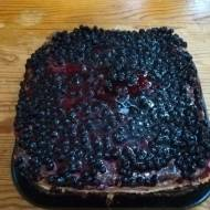 Ciasto księżniczka z borówkami  -w sam raz na karnawał