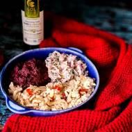 Indyk z sosem rzodkiewkowym i purée z marchwi bez soli