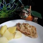 Schab wieprzowy gotowany na parze