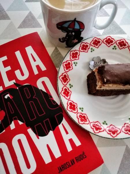 Czechy - Míša řezy, czyli ciasto czekoladowe z tofu-serkiem