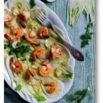 Koper włoski, krewetki i pomarańcze – prosta i wykwintna sałatka