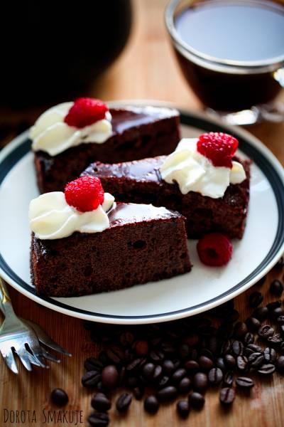 Ciasto czekoladowe z kawą i rumem