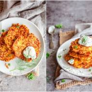 Placki marchewkowe z serem / Carrot fritters with cheese