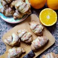 Rogaliki z czekoladą i lukrem pomarańczowym