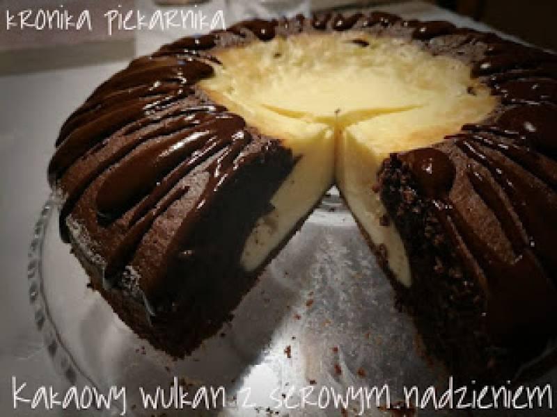 Kakaowy wulkan z nadzieniem serowym