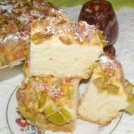 pyszne ciasto drożdżowe z rabarbarem...