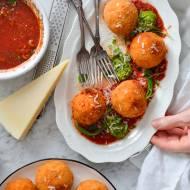 ARANCINI włoskie kuleczki z ryżu z mozzarellą w środku! Przepyszne!