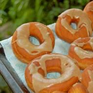 Obłędne donuts z polewą toffi