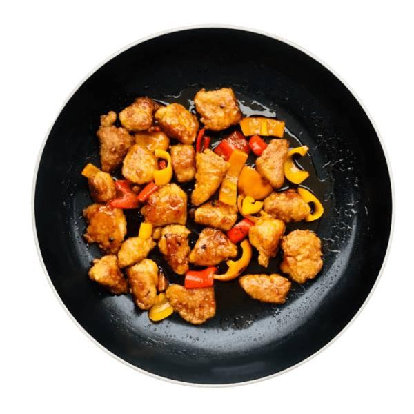 Kurczak w sosie słodko-kwaśnym z kaszą