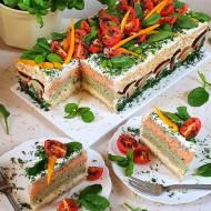 Tort kanapkowy. Tort wytrawny z chleba