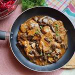 Polędwiczki wieprzowe w sosie grzybowym