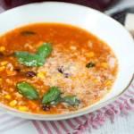 Zupa z indykiem, fasolą i ryżem