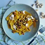 Makaron z pistacjami