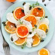 Sałatka caprese z pomarańczą – przepis