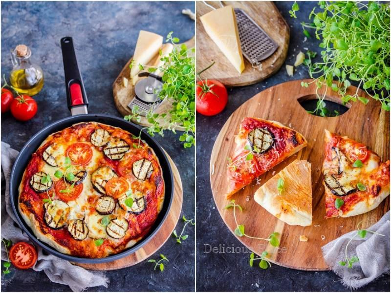 Pizza melanzane z patelni - test patelni Woll Diamond / Melanzane pizza from the pan - pan test Woll Diamond